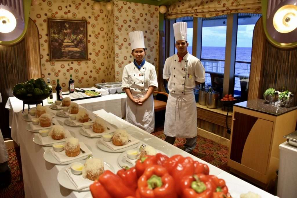 The Chef's Table On Carnival Cruise Line